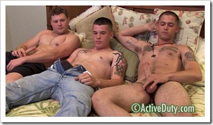 active duty - straight army guys threesome (2)